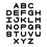 Vecteur de police audacieuse stylisée et d'alphabet Lettres d'alphabet de vecteur Images stock
