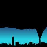 Vecteur de pollution de ville illustration stock