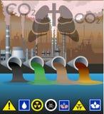 Vecteur de pollution environnementale illustration stock