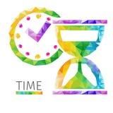 Vecteur de polygone de temps Photographie stock