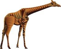 Vecteur de polygone de girafe sur un fond transparent Images libres de droits