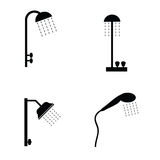 illustration noire de vecteur d 39 ic ne de douche. Black Bedroom Furniture Sets. Home Design Ideas