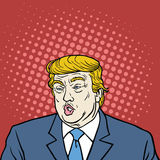 Vecteur de portrait de Donald Trump Pop Art Caricature Images libres de droits