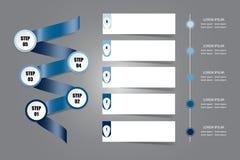 Vecteur de présentation d'Infographic dans la couleur bleue Photos stock
