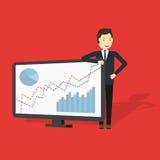 Vecteur de Presenting d'homme d'affaires Image stock