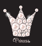 Vecteur de princesse Crown Pearl Background Photos libres de droits