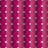 Vecteur de princesse Seamless Pattern Background Photographie stock libre de droits