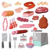 Vecteur de produits carnés illustration stock