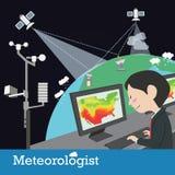 Vecteur de profession de météorologiste illustration de vecteur