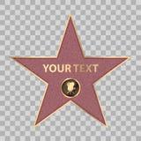 Vecteur de promenade de renommée de célébrité de star d'Hollywood Image libre de droits