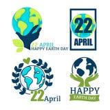 Vecteur de protection de planète d'icône d'isolement par terre d'amour d'environnement et d'écologie illustration libre de droits