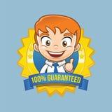Vecteur de Quality Badge Premium d'homme d'affaires Illustration Libre de Droits