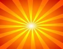 Vecteur de rayon de soleil Photo stock