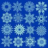 vecteur de ressemblance de flocons de neige de formes de glace géométrique en cristal Photo stock