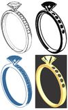Vecteur de Ring With Diamond Illustration Isolated Images stock