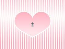 Vecteur de romance de fond d'amour de coeur de Saint-Valentin Images stock