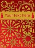 vecteur de rouge d'or de Noël de fond Photos stock