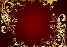 vecteur de rouge d'illustration d'or de fond illustration stock