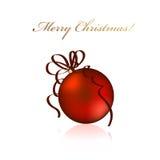 vecteur de rouge de Noël de bille Photos stock