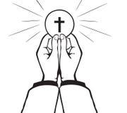 Vecteur de sainte communion illustration libre de droits