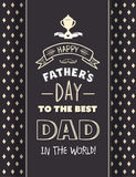 Vecteur de salutation de jour de pères illustration libre de droits