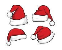 Vecteur de Santa de chapeau dans le jour de Noël Photos stock