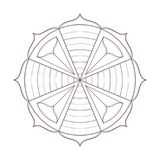 Vecteur de schéma de conception simple de mandala Image stock