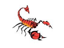 Vecteur de scorpion image stock