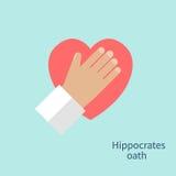 Vecteur de serment de Hippocrate illustration stock