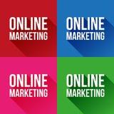 Vecteur de signe de marketing en ligne Images stock