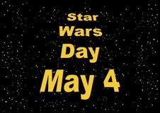 Vecteur de signe de jour de Star Wars illustration de vecteur