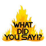 vecteur de signe Qu'avez-vous dit ! ? Images libres de droits