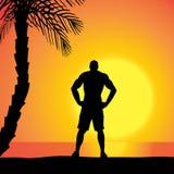 vecteur de silhouette d'homme Photo stock