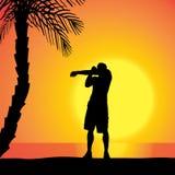 vecteur de silhouette d'homme Photos stock