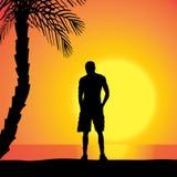 vecteur de silhouette d'homme Photographie stock