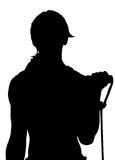 Vecteur de silhouette de femme de forme physique Photo stock