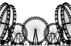 Vecteur de silhouette de gisement de carrousel Image stock