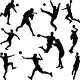 Vecteur de silhouette de joueur de handball Photographie stock
