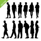 Vecteur de silhouettes de peuples Photographie stock libre de droits