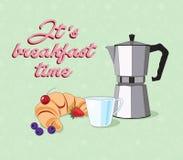 Vecteur de stillife de petit déjeuner Photo libre de droits