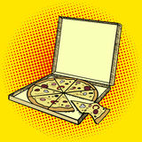 Vecteur de style d'art de bruit de boîte à pizza illustration de vecteur