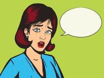 Vecteur de style d'art de bruit de cri perçant de fille illustration libre de droits