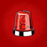 Vecteur de style de bande dessinée de couleur rouge de sirène de clignoteur illustration stock