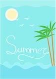 Vecteur de Sun et d'été de mer Photographie stock libre de droits