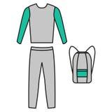 Vecteur de survêtement Forme physique d'icône de survêtement Vecteur de costume des sports des hommes Photos stock