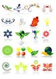 vecteur de symboles d'illustration d'écologie illustration libre de droits