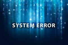 vecteur de système d'erreur de code de fond photographie stock libre de droits