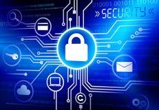Vecteur de systèmes de sécurité d'Internet illustration de vecteur