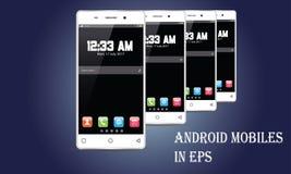 Vecteur de téléphone portable d'Android Photographie stock libre de droits