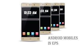 Vecteur de téléphone portable d'Android Image libre de droits